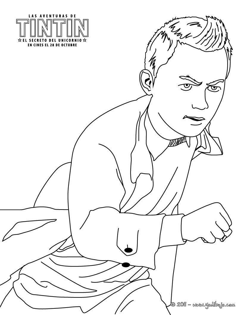 Dibujos de TINTIN: El Secreto del Unicornio para COLOREAR - pintar ...