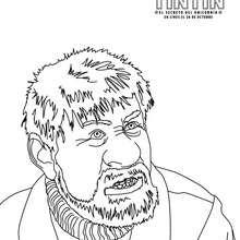 Dibujo para colorear : Capitán HADDOCK el amigo de Tintín