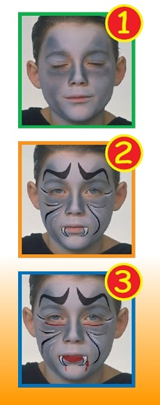 DRACULA face painting for kids
