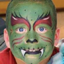 Manualidad infantil : Maquillaje de MONSTRUO VERDE