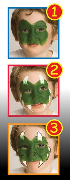 LITTLE HALLOWEEN MONSTER face painting with sticks for kids
