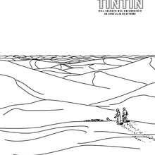 Dibujo para colorear : HADDOCK y TINTÍN