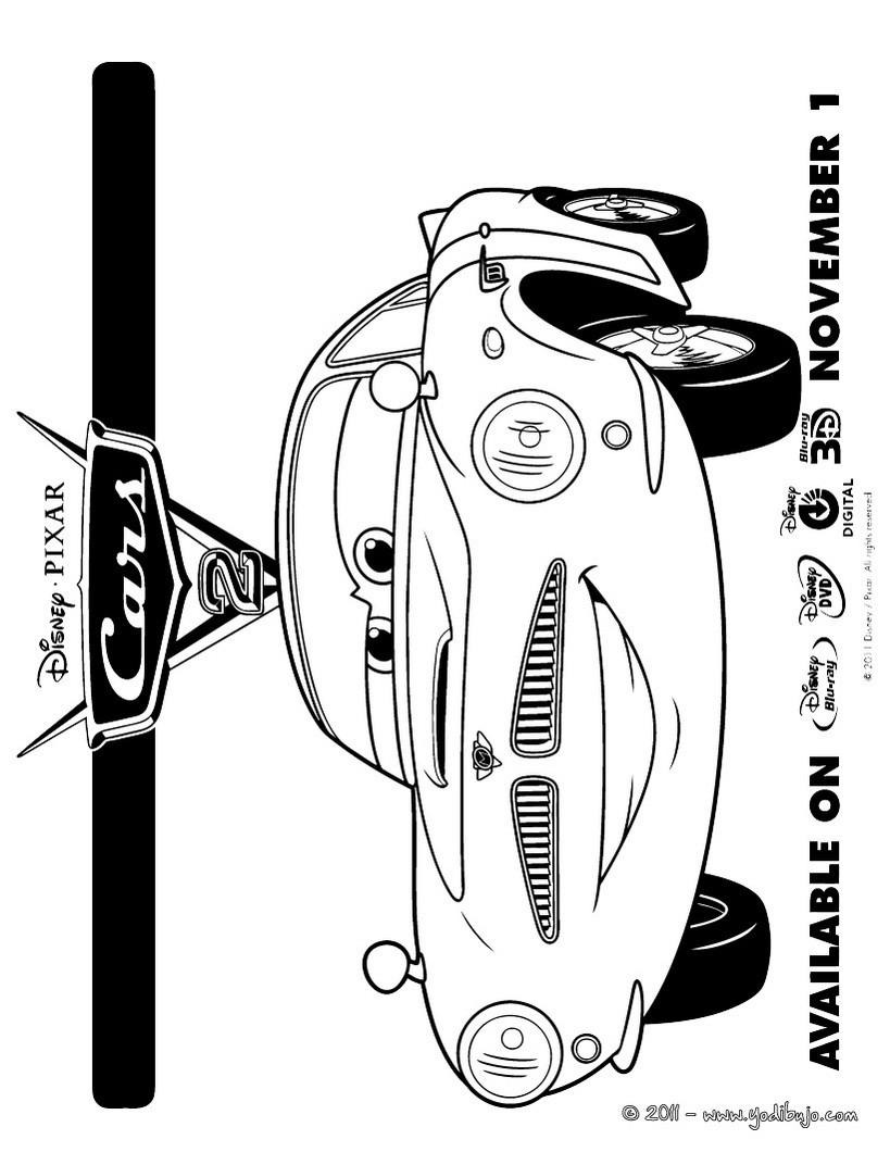 Dibujos para colorear de CARS - 16 páginas Disney para imprimir