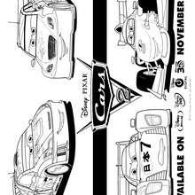 CARS 2 para colorear - Dibujos para Colorear y Pintar - Dibujos DISNEY para colorear - Dibujos para colorear DISNEY PIXAR - Dibujos para colorear de CARS