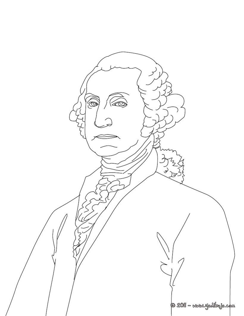 Dibujos para colorear presidente george washington - es.hellokids.com
