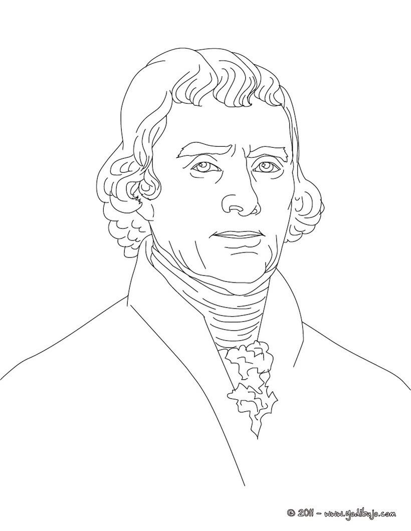 Dibujos Para Colorear Presidente Thomas Jefferson Es
