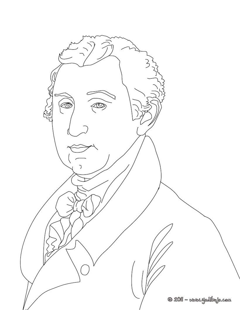 Dibujos para colorear presidente james monroe - es.hellokids.com
