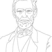 Presidente ABRAHAM LINCOLN para colorear - Dibujos para Colorear y Pintar - Dibujos para colorear PERSONAJES - PERSONAJES HISTORICOS para colorear - AMERICANOS FAMOSOS para colorear - PRESIDENTES de los Estados Unidos