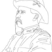 Presidente THEODORE ROOSEVELT para colorear - Dibujos para Colorear y Pintar - Dibujos para colorear PERSONAJES - PERSONAJES HISTORICOS para colorear - AMERICANOS FAMOSOS para colorear - PRESIDENTES de los Estados Unidos