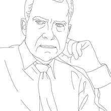 Presidente RICHARD NIXON para colorear - Dibujos para Colorear y Pintar - Dibujos para colorear PERSONAJES - PERSONAJES HISTORICOS para colorear - AMERICANOS FAMOSOS para colorear - PRESIDENTES de los Estados Unidos