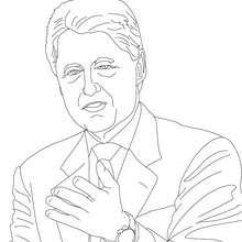 Presidente WILLIAM CLINTON para colorear - Dibujos para Colorear y Pintar - Dibujos para colorear PERSONAJES - PERSONAJES HISTORICOS para colorear - AMERICANOS FAMOSOS para colorear - PRESIDENTES de los Estados Unidos