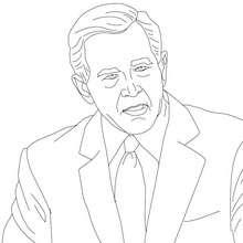 Presidente GEORGE W. BUSH para colorear - Dibujos para Colorear y Pintar - Dibujos para colorear PERSONAJES - PERSONAJES HISTORICOS para colorear - AMERICANOS FAMOSOS para colorear - PRESIDENTES de los Estados Unidos