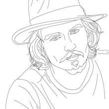 Dibujo para colorear : El actor JOHNNY DEPP