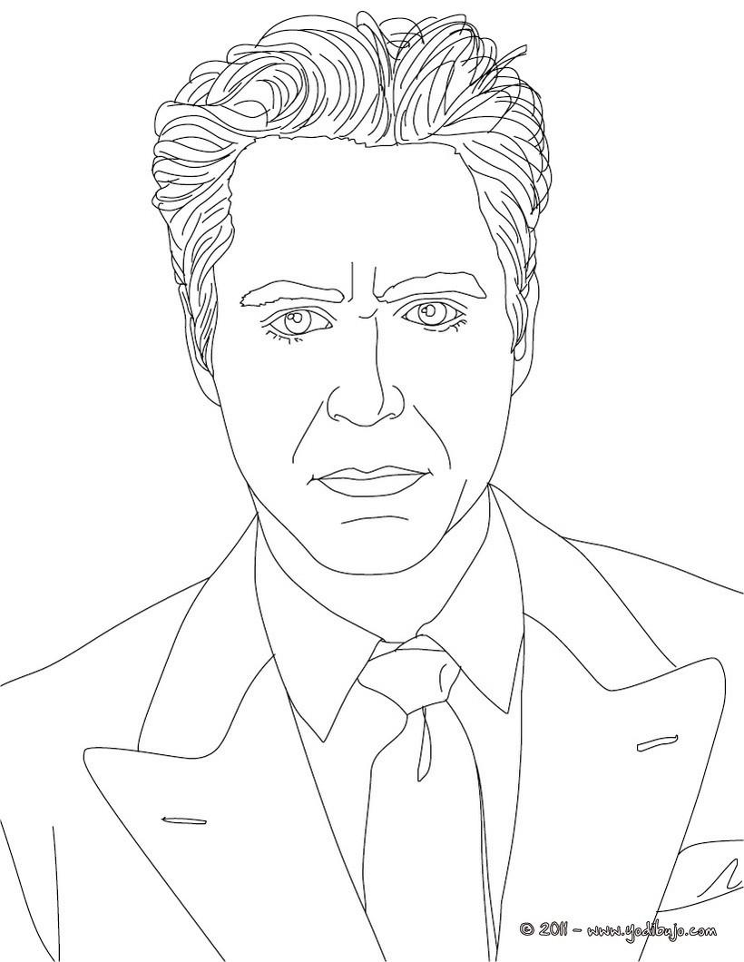 Dibujos para colorear el actor johnny depp - es.hellokids.com