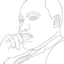 MARTIN LUTHER KING para colorear - Dibujos para Colorear y Pintar - Dibujos para colorear PERSONAJES - PERSONAJES HISTORICOS para colorear - AMERICANOS FAMOSOS para colorear - PERSONAS IMPORTANTES en la historia de los EE.UU