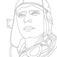 El aviator CHARLES LINDBERGH para colorear - Dibujos para Colorear y Pintar - Dibujos para colorear PERSONAJES - PERSONAJES HISTORICOS para colorear - AMERICANOS FAMOSOS para colorear - PERSONAS IMPORTANTES en la historia de los EE.UU