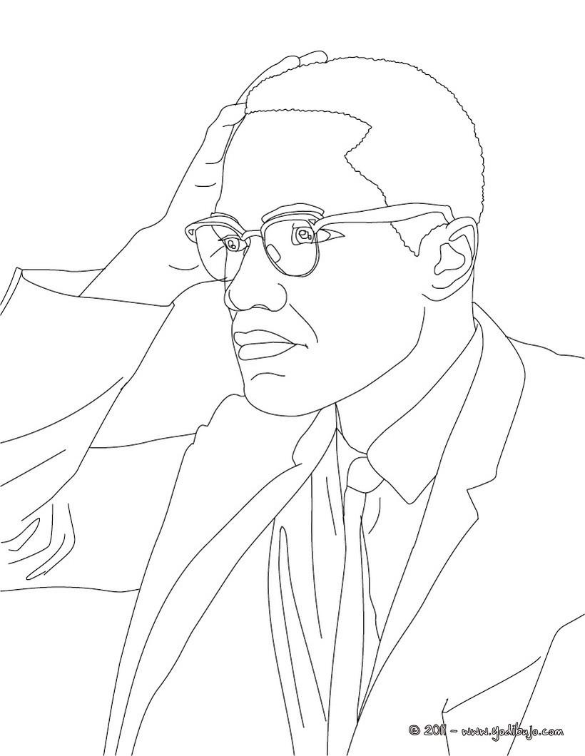 Contemporáneo Malcolm X Para Colorear Adorno - Dibujos Para Colorear ...