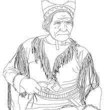 GERONIMO para colorear - Dibujos para Colorear y Pintar - Dibujos para colorear PERSONAJES - PERSONAJES HISTORICOS para colorear - AMERICANOS FAMOSOS para colorear - NATIVOS AMERICANOS