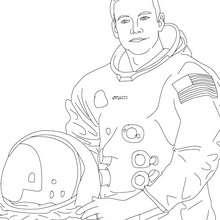 El astronauta NEIL ARMSTRONG para colorear - Dibujos para Colorear y Pintar - Dibujos para colorear PERSONAJES - PERSONAJES HISTORICOS para colorear - AMERICANOS FAMOSOS para colorear - PERSONAS IMPORTANTES en la historia de los EE.UU