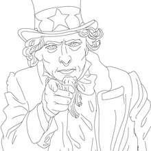 TIO SAM para colorear - Dibujos para Colorear y Pintar - Dibujos para colorear PERSONAJES - PERSONAJES HISTORICOS para colorear - AMERICANOS FAMOSOS para colorear - PERSONAS IMPORTANTES en la historia de los EE.UU