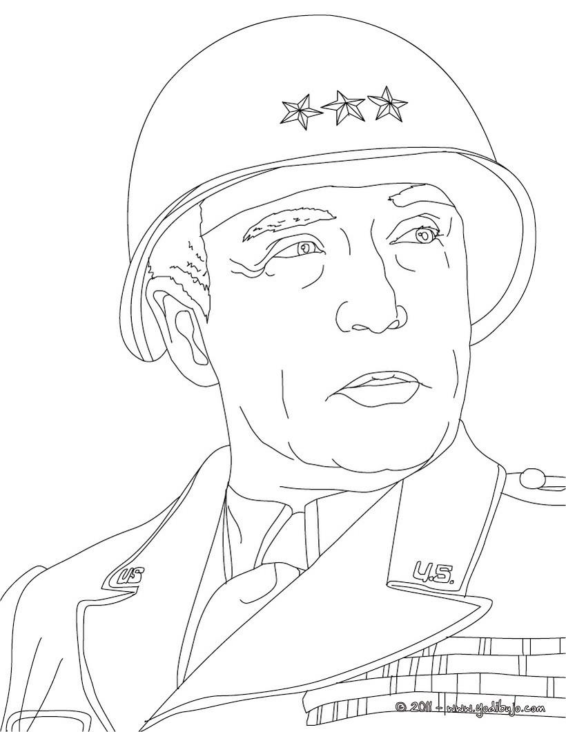 Dibujos para colorear el general patton - es.hellokids.com