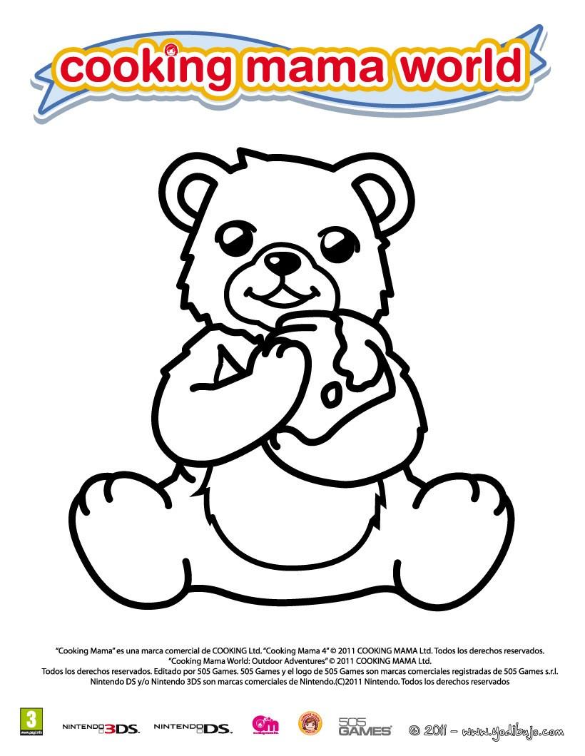 Dibujos para colorear oso , aventuras en el campo - es.hellokids.com