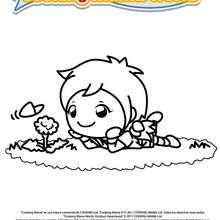 MAMA con una flor para colorear, Aventuras en el Campo - Dibujos para Colorear y Pintar - Dibujos para colorear PERSONAJES - Dibujos para colorear y pintar PERSONAJES - COOKING MAMA WORLD para colorear - COOKING MAMA WORLD - AVENTURAS EN EL CAMPO
