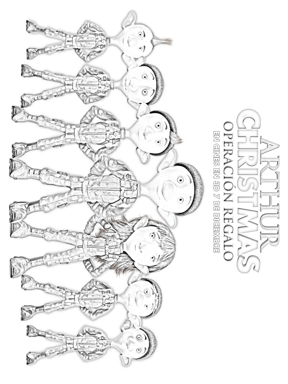 Dibujos para colorear elfos del padre de arthur - es.hellokids.com