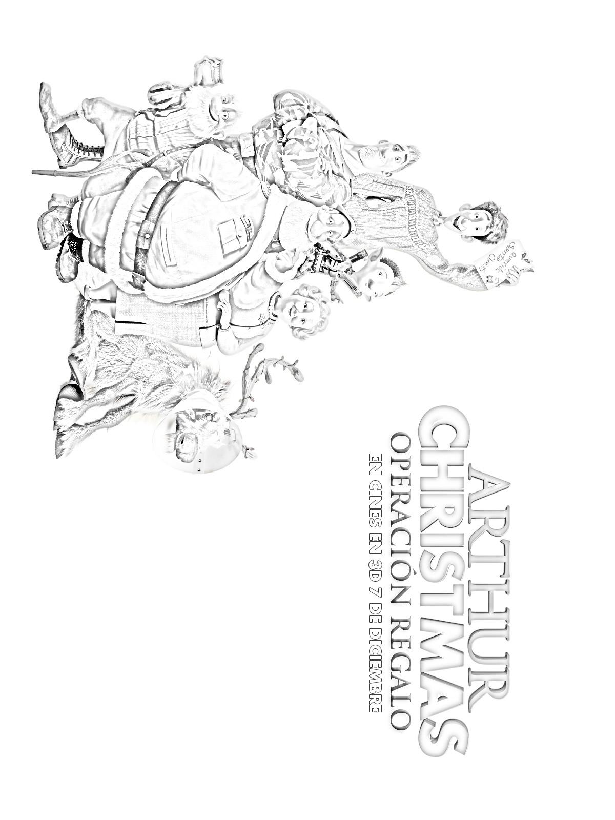 Dibujos de ARTHUR CHRISTMAS: OPERACION REGALO para colorear - pintar ...