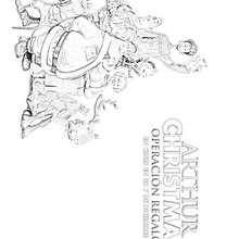 CARTEL ARTHUR CHRISTMAS para colorear - Dibujos para Colorear y Pintar - Dibujos de PELICULAS colorear - Dibujos de ARTHUR CHRISTMAS: OPERACION REGALO para colorear