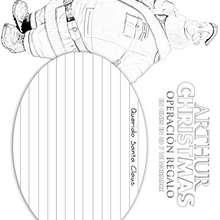 MODELO DE CARTA SANTA de Arthur Christmas para colorear - Dibujos para Colorear y Pintar - Dibujos de PELICULAS colorear - Dibujos de ARTHUR CHRISTMAS: OPERACION REGALO para colorear