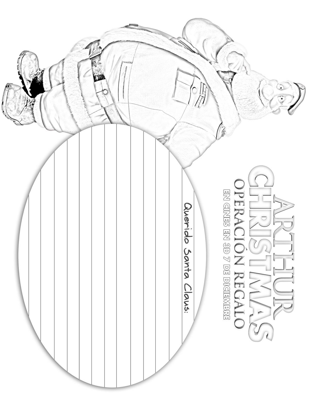 Dibujos de ARTHUR CHRISTMAS OPERACION REGALO para colorear