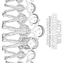 ELFOS del padre de Arthur para colorear - Dibujos para Colorear y Pintar - Dibujos de PELICULAS colorear - Dibujos de ARTHUR CHRISTMAS: OPERACION REGALO para colorear
