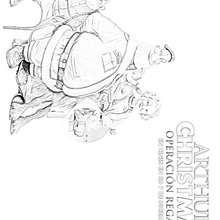 Dibujo de SANTA, Sra SANTA y GRANSANTA para colorear - Dibujos para Colorear y Pintar - Dibujos de PELICULAS colorear - Dibujos de ARTHUR CHRISTMAS: OPERACION REGALO para colorear