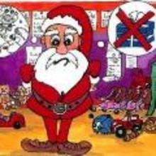 imagen infantil Navidad PAPA NOEL ENFADADO - Dibujar Dibujos - Imagenes para niños - Imagenes infantiles NAVIDAD - Imagenes PAPA NOEL