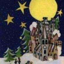 Ilustración : imagen infantil Navidad PUEBLO
