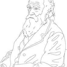 CHARLES DARWIN para colorear - Dibujos para Colorear y Pintar - Dibujos para colorear PERSONAJES - PERSONAJES HISTORICOS para colorear - BRITÁNICOS famosos para colorear - PERSONAS IMPORTANTES en la historia del REINO UNIDO