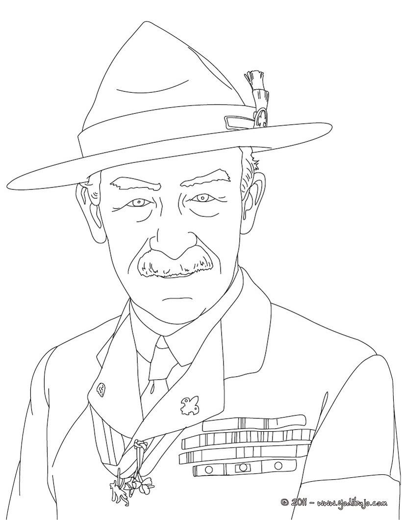 Dibujo para colorear : ROBERT BADEN POWELL