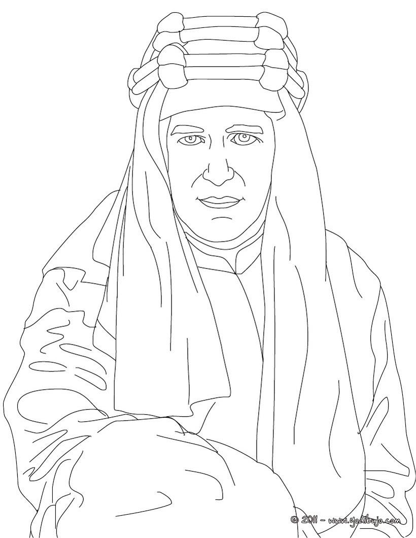 Dibujo para colorear : T.E LAWRENCE DE ARABIA