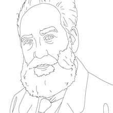 SIR ALEXANDER GRAHAM BELL para colorear - Dibujos para Colorear y Pintar - Dibujos para colorear PERSONAJES - PERSONAJES HISTORICOS para colorear - BRITÁNICOS famosos para colorear - PERSONAS IMPORTANTES en la historia del REINO UNIDO