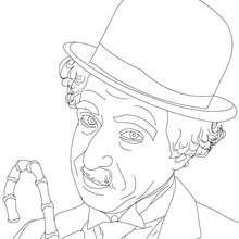 SIR CHARLIE CHAPLIN para pintar online - Dibujos para Colorear y Pintar - Dibujos para colorear PERSONAJES - PERSONAJES HISTORICOS para colorear - BRITÁNICOS famosos para colorear - CELEBRIDADES BRITÁNICAS