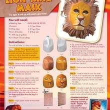 Manualidad infantil : Fabricar una máscara del REY LEON