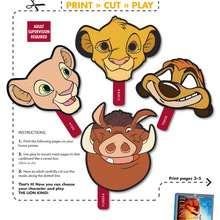 Manualidad infantil : Instrucciones  para montar tu máscara de animal salvaje