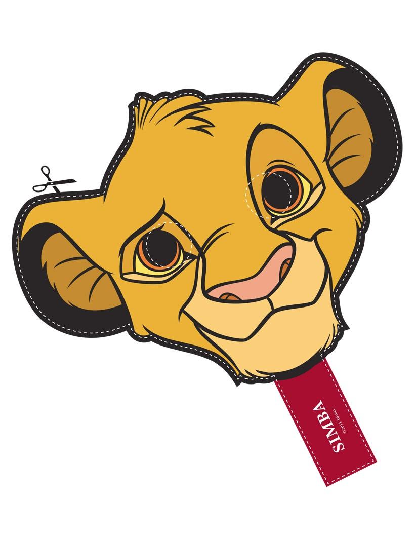 Máscara de Simba de Disney. Manualidades a Raudales.