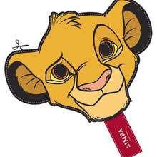 Máscara SIMBA para recortar e imprimir - Manualidades para niños - MASCARAS infantiles - Máscaras de ANIMALES SALVAJES