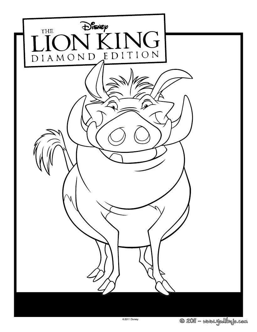 Dibujos para colorear pumba - es.hellokids.com