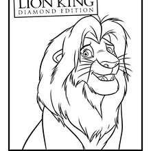 Dibujo de MUFASA para colorear - Dibujos para Colorear y Pintar - Dibujos DISNEY para colorear - Dibujos para colorear ANIMALES DISNEY - Dibujos para colorear REY LEON