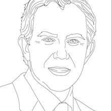 Primer Ministro TONY BLAIR para colorear - Dibujos para Colorear y Pintar - Dibujos para colorear PERSONAJES - PERSONAJES HISTORICOS para colorear - BRITÁNICOS famosos para colorear - PRIMEROS MINISTROS del Reino Unido