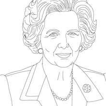 Primer Ministro MARGARET THATCHER para colorear - Dibujos para Colorear y Pintar - Dibujos para colorear PERSONAJES - PERSONAJES HISTORICOS para colorear - BRITÁNICOS famosos para colorear - PRIMEROS MINISTROS del Reino Unido