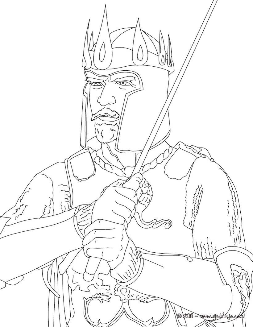 Dibujos para colorear rey arturo  eshellokidscom